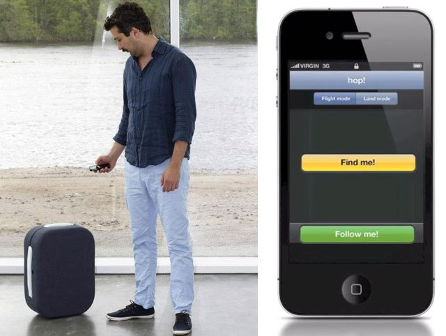 Latest Invention: Hop - Suitcase that Wirelessly Follows Its