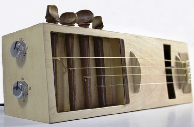 Latest Invention: DIY Alarm Clock that Uses Guitar Strings