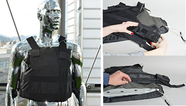 Air Cooling Vest : Latest invention air conditioned bulletproof vests