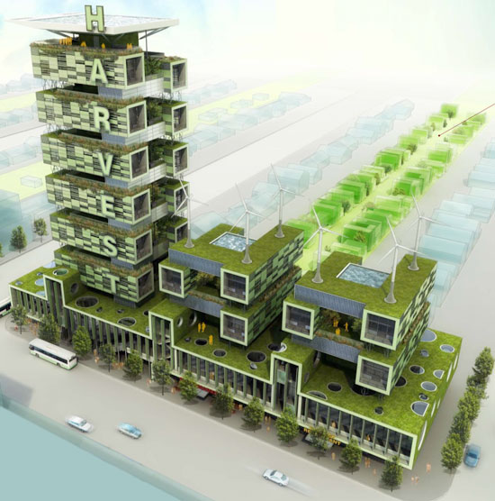 Harvest Green Building With Vertical Farming Environment Infoniac Latest Inventions