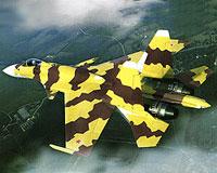 Russian jet fighter Su-35