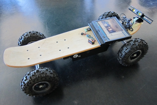 Latest Invention: Skateboard Controlled Using Kinect and