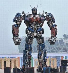 Huge Statue Of The Famous Fictional Leader Of The  Good  Transformers