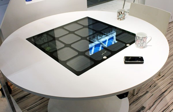 Latest invention table that uses solar energy to charge gadgets technology infoniac - Phone charging furniture the future in your home ...