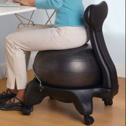 Balance Ball Chair that Replaces your Office Chair - Health ... on best chair for office, hammock chair for office, wood chair for office, stability ball for office, running for office, high chair for office, barrel chair for office, wing chair for office, recliner for office, ghost chair for office, accent chair for office, swing chair for office, stuff for office, dining chair for office, car chair for office, seating for office, lounge chair for office, balance ball for office, massage chair for office, kneeling chair for office,