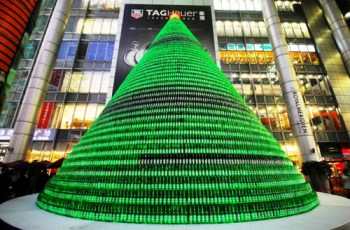 Chinese Designers Present Christmas Tree Built from 1,000 Beer ...