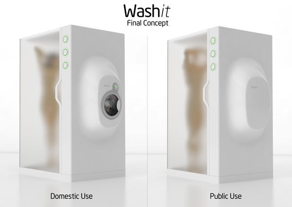 Latest Invention Washit Eco Friendly Shower Unit And